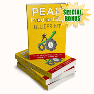 Special Bonuses - March 2020 - Peak Productivity Blueprint Pack