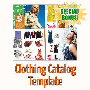 Special Bonuses - April 2020 - Clothing Catalog Template