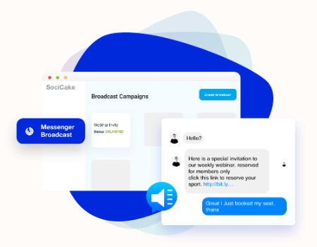 SociCake Agency Features - Messenger Broadcaster
