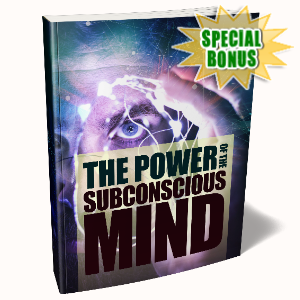 Special Bonuses - August 2020 - The Power Of The Subconscious Mind