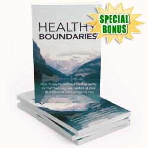 Special Bonuses - September 2020 - Healthy Boundaries Pack