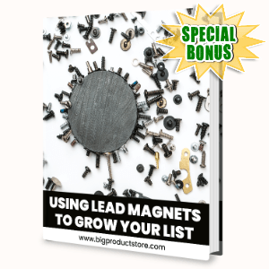 Special Bonuses - October 2020 - Using Lead Magnets To Grow Your List