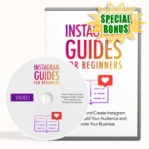 Special Bonuses #32 - January 2021 - Instagram Guides For Beginners Video Upgrade Pack