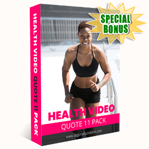 Special Bonuses #3 - October 2021 - Health Video Quote #11 Pack