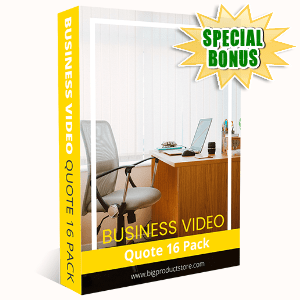 Special Bonuses #7 - October 2021 - Business Video Quote #16 Pack