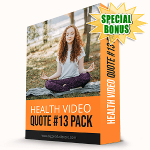 Special Bonuses #15 - October 2021 - Health Video Quote #13 Pack