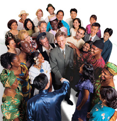 People of different races who are friends