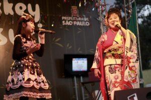Melissa Kuniyoshi, dividindo o palco com Karen Ito
