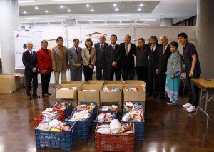 Alimentos arrecadados durante o evento, que beneficiaram entidades assistenciais