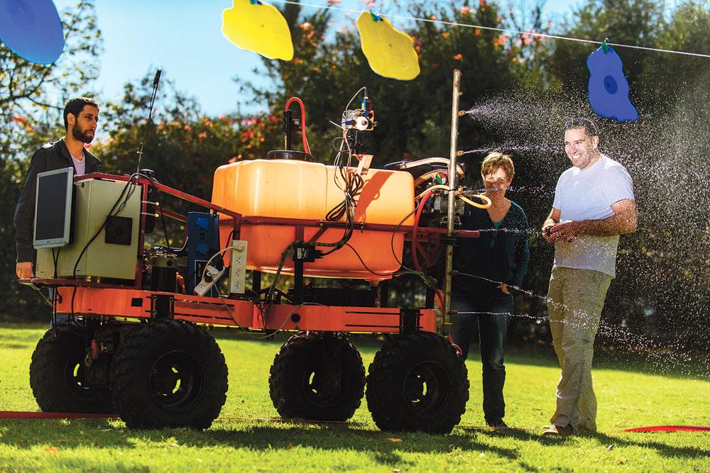 BGU's Human-Robot Cooperative Vineyard Selective Sprayer (Photo/Dani Machlis)