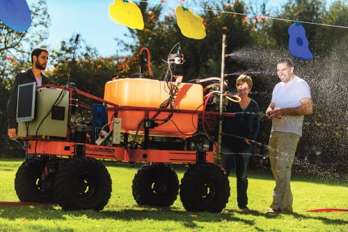 BGU's Human-Robot Cooperative Vineyard Selective Sprayer (Photo/Dani Machlis)