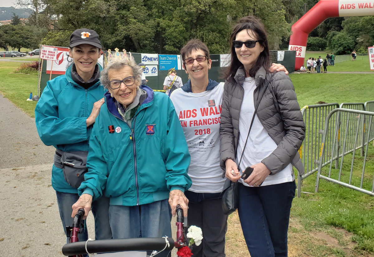 Walking For A Good Cause In SF At Age 99