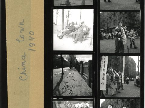 Contact sheet of Roman Vishniac's shots of New York's Chinatown