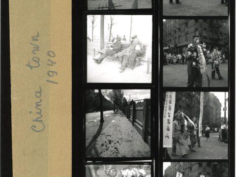 Contact sheet of Roman Vishniac's shots of New York's Chinatown