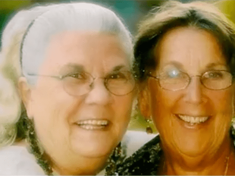 Connie Kurtz, left, and her wife Ruthie Berman were LGBTQ trailblazers. (Photo/JTA-screenshot from YouTube)