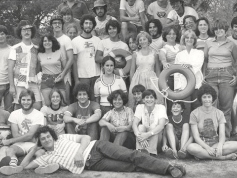 The Kutz staff is shown in 1977. (Photo/courtesy of Kutz Camp)