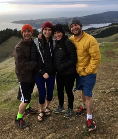 Weitzman twins hike on Mount Tamalpais with mother, Chyah, and sister Sarah. (Photo/Ashley Rothacker)