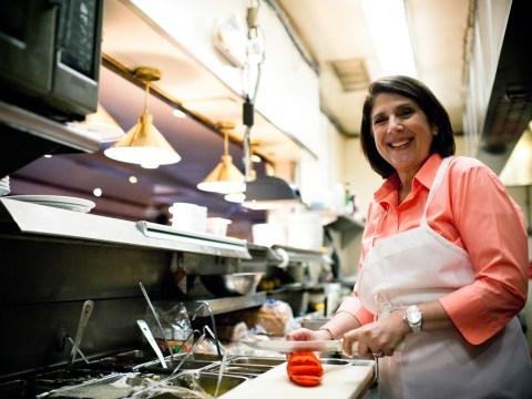 Debbie Shahvar in the Buttercup Diner kitchen