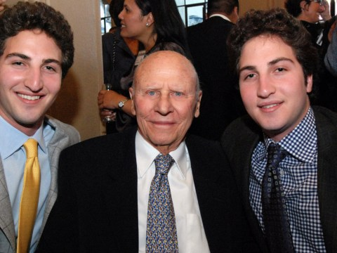 The late Douglas Goldman with grandsons Matthew and Jason Goldman