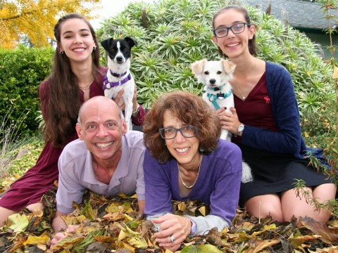 Rob Gloster with his wife, Sharon, and daughters, Daniela and Talia