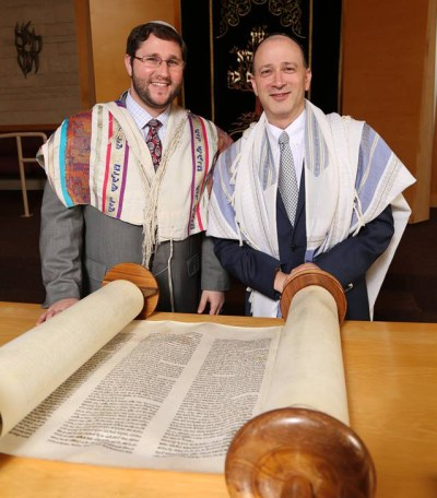 Cantor Doron Shapira (right) with Rabbi Corey Helfand
