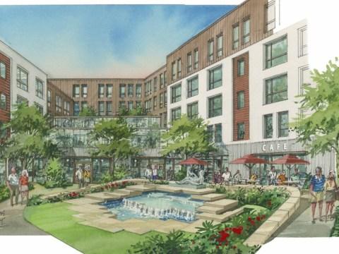 Artist's rendering of the massive renovation underway at San Francisco Jewish Living