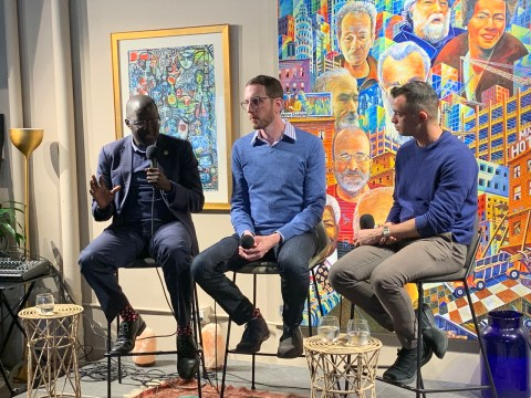 AJC brought together LGBT civil rights leader Nicholas Opiyo and Senator Scott Wiener for a conversation at Manny's on the state of human rights from Uganda to California.