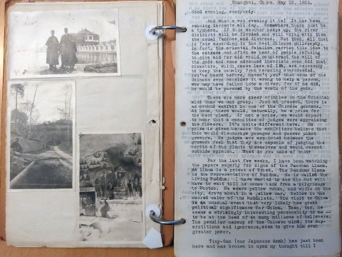 Anne's photos and letters, typed by her sister Belle (Photo/Maya Mirsky)