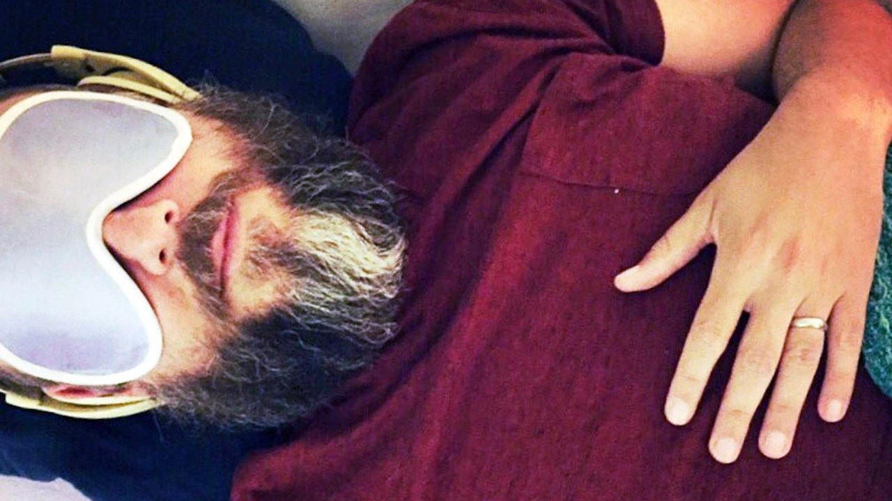 Rabbi Zac Kamenetz during his first psilocybin experience at Johns Hopkins University (Photo/Courtesy Kamenetz)