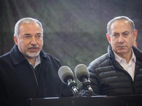 Prime Minister Benjamin Netanyahu, right, and then-Defense Minister Avigdor Liberman speak to the media, Jan. 10, 2017. (Photo/JTA-Hadas Parush-Flash90)
