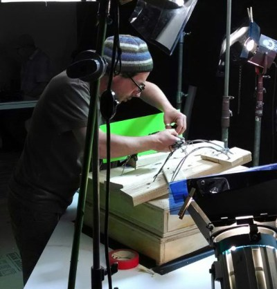 "Director and writer Mauricio Baiocchi working on ""Crickets Would Sing"". (Photo/ Mauricio Baiocchi)"