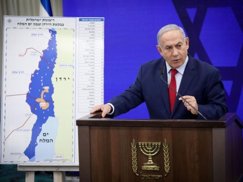 Israeli Prime Minister Benjamin Netanyahu announces that if he is re-elected, he will make the Jordan Valley a sovereign part of Israel, Sept. 10, 2019. (Photo/JTA-Hadas Parush-Flash90)