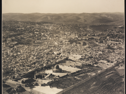 Aerial photo of Jerusalem, 1937 (Photo/Courtesy Pritzker Family National Photography Collection-The National Library of Israel)