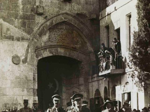 General Allenby's entrance to Jerusalem, 1917. (Photo/Courtesy Pritzker Family National Photography Collection-The National Library of Israel)