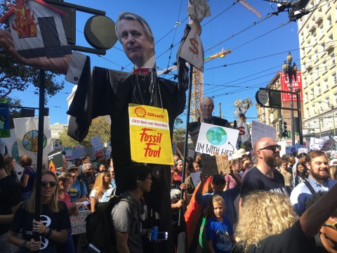 Youth-led climate march in San Francisco, Sept. 20, 2019 (Photo/Gabe Stutman)