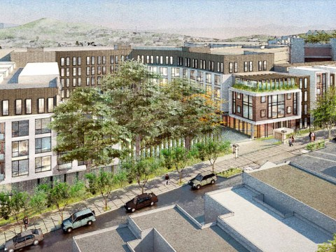 A draft rendering of the Frank Residences.