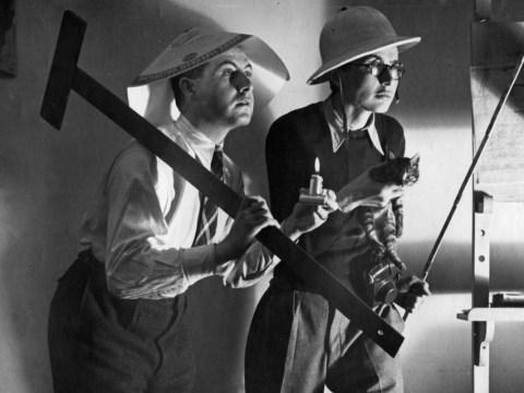 Paul Weidlinger (left) and fellow engineer István Haátz in Bolivia, 1942. (Courtesy Tom Weidlinger)