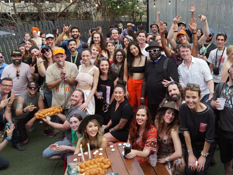 Swig's Shabbat event at the South by Southwest festival in Austin, Texas. (Adam Jacobs)