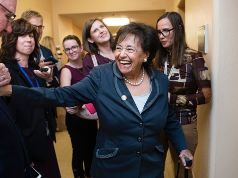 Rep. Nita Lowey, D-N.Y., in the Capitol, Oct. 16, 2019. (JTA/Tom Williams/CQ-Roll Call, Inc via Getty Images)