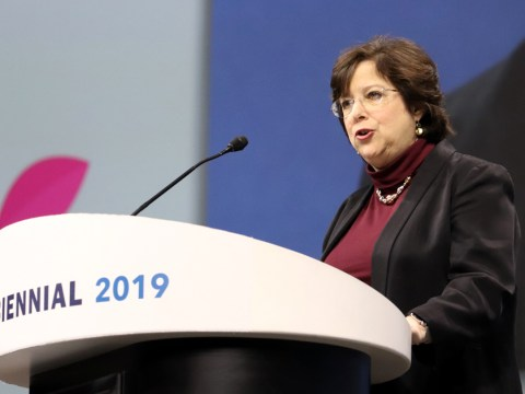 Daryl Messinger is the outgoing chair of the North American Board of Trustees for the Union for Reform Judaism. (URJ/Rob Dicker)