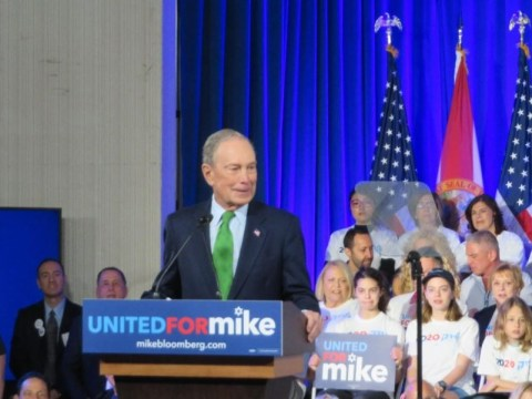 Bloomberg rolls out his Jewish campaign at a JCC in Aventura, Jan. 26, 2020. (JTA/Ron Kampeas)