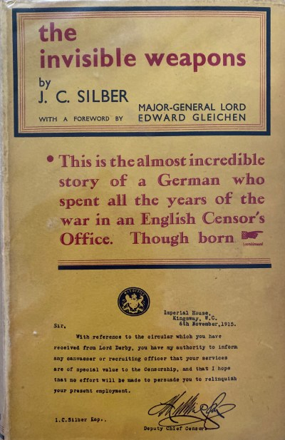 """""""The Invisible Weapons,"""" Julius Silber's 1932 autobiography."""