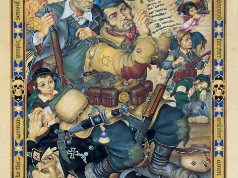 """My People. Samson in the Ghetto (The Battle of the Warsaw Ghetto)"" (ARTHUR SZYK/COURTESY THE MAGNES COLLECTION)"