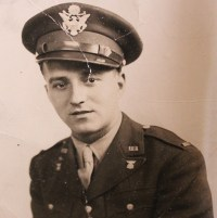 Gisa Oloff's husband, Joseph, in his Army uniform.