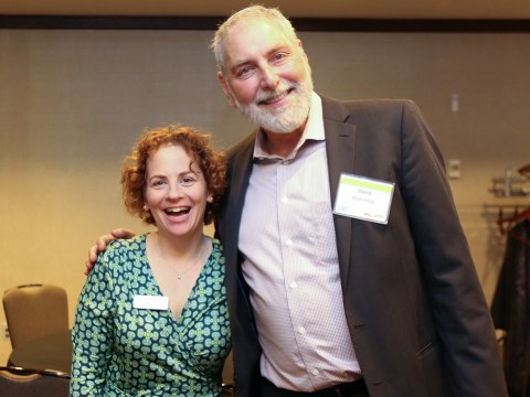 Outgoing CEO David Waksberg with incoming CEO Dana Sheanin. (Photo/Courtesy Jewish LearningWorks)
