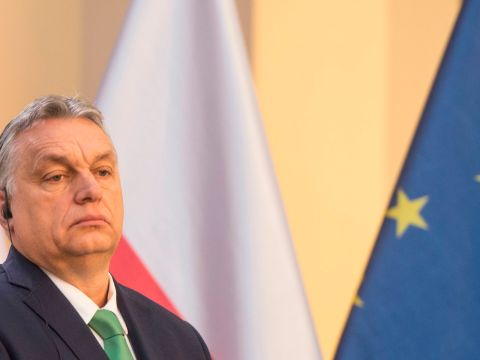 Prime Minister Viktor Orban of Hungary at a news conference in Prague, March 4, 2020. (Photo/JTA-Michal Cizek-AFP via Getty Images)