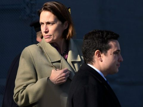 Fiona Hill, former deputy assistant to the president and senior director for Europe and Russia on the National Security Council staff, leaves after reviewing transcripts of her deposition with several House committees at the U.S. Capitol, Nov. 4, 2019. (Photo/JTA-Andrew Caballero-Reynolds-AFP via Getty Images)