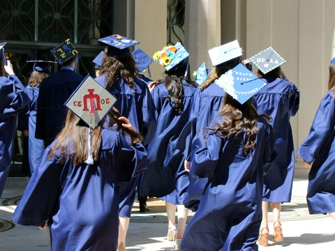 Jewish Community High School of the Bay graduation at Congregation Emanu-El in San Francisco in 2019. (Photos/Barbara Butkus Photography)