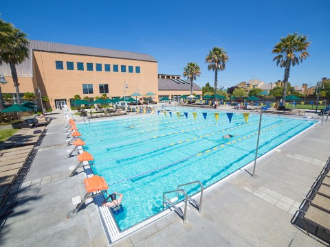 The Peninsula JCC's pools reopened in July. (Photo/Courtesy PJCC)