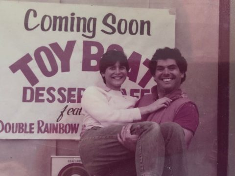 Jesse Fink and Roberta Mindich Fink in the early days. (Photo/Courtesy)